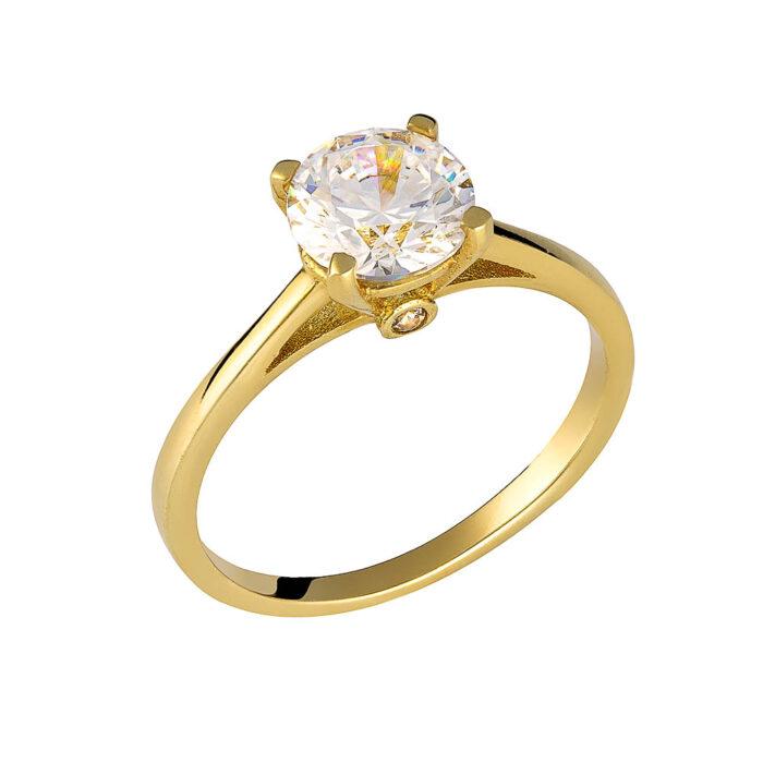 14k Δαχτυλίδι μονόπετρο