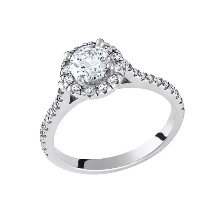 14k Δαχτυλίδι πετράτο μονόπετρο