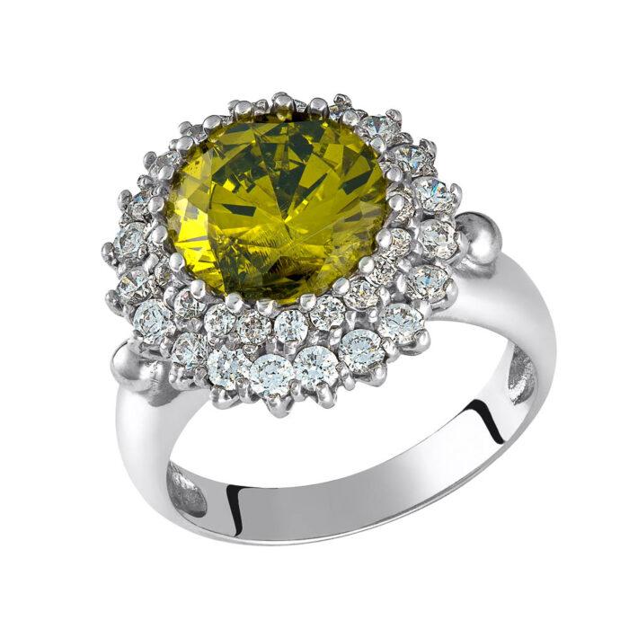14k Δαχτυλίδι με ημιπολύτιμη πέτρα σμαραγδίτη