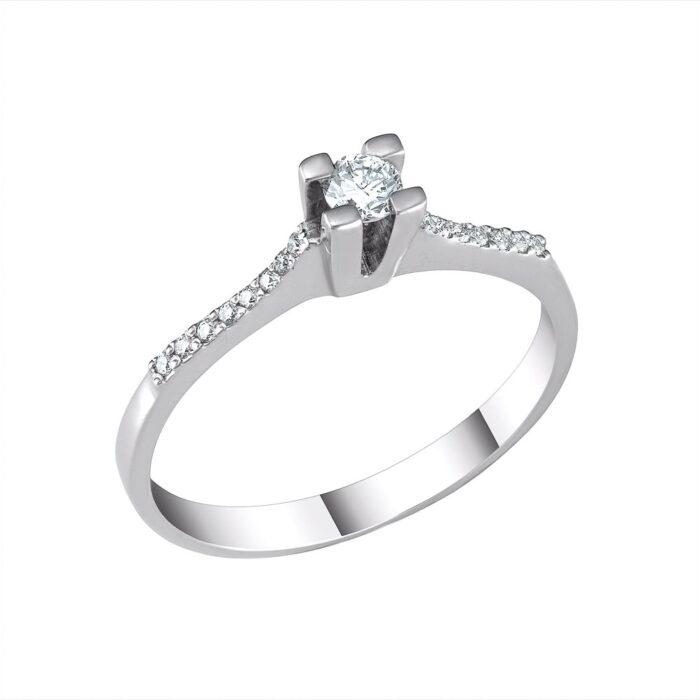 18k Δαχτυλίδι μονόπετρο