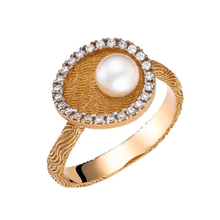 14k Δαχτυλίδι χειροποίητο μαργαριτάρι