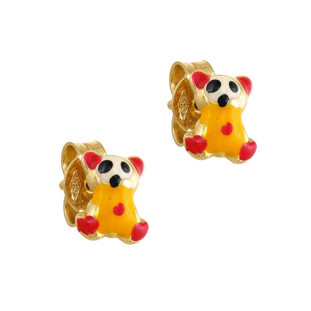 14k Σκουλαρίκια αρκουδάκι