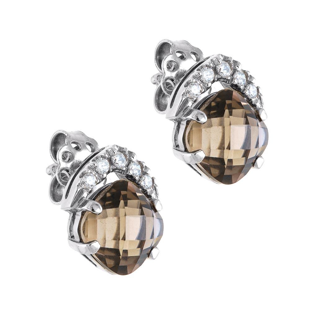 14k Σκουλαρίκια με σιτρίν πέτρα