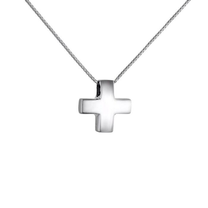 14k Σταυρός γυναικείος  με αλυσίδα
